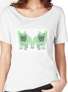 Theo the Frenchie Women's Relaxed Fit T-Shirt
