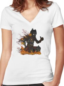 This is fine Women's Fitted V-Neck T-Shirt