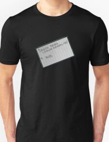 Lebowski's tape bowling playoffs Unisex T-Shirt