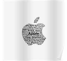 Apple Word Logo Poster