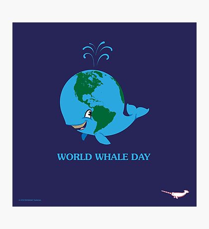 World Whale Day Photographic Print