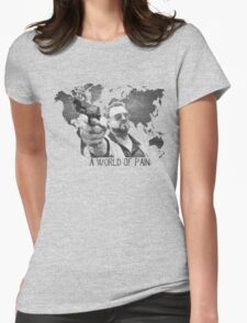 A World Of Pain b Womens Fitted T-Shirt