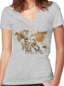 A World Of Pain Women's Fitted V-Neck T-Shirt