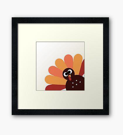 Happy thanksgiving Day Turkey Framed Print