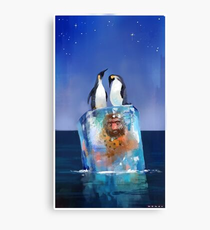 Icy Situation Canvas Print