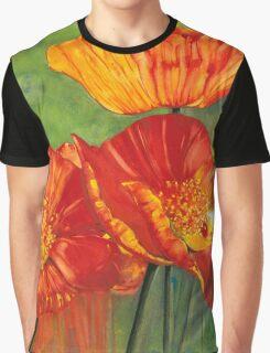 Hot Poppies Graphic T-Shirt