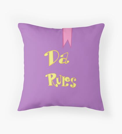 RULE BOOK Throw Pillow