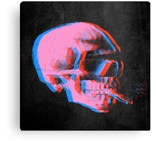 Van Gogh Skull with burning cigarette remixed 2 Canvas Print