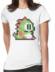 Bubble Bobble Green Dragon  Womens Fitted T-Shirt