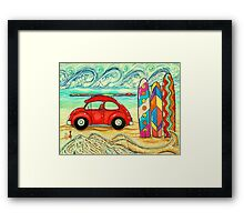 Beach Bug Framed Print
