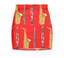 Instruments with a Red Background Holiday gift idea Mini Skirt