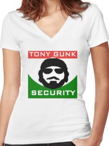 Tony Gunk Security Women's Fitted V-Neck T-Shirt