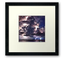 Lightning in HDR Framed Print