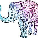 Painted Elephant by ImageMonkey
