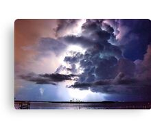 Lightning in HDR Canvas Print