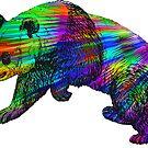 Rainbow Burst Panda by ImageMonkey