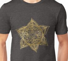 Zen Gold, Mandala 2 Unisex T-Shirt