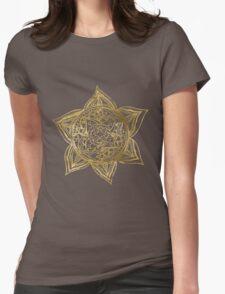 Zen Gold, Mandala 2 Womens Fitted T-Shirt