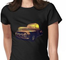 52 Ford Pickup Moody Morning Womens Fitted T-Shirt
