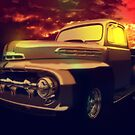 52 Ford Pickup Moody Morning by ChasSinklier