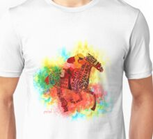 Colorful Horse Racing in Typography Design Unisex T-Shirt