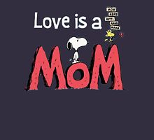 Snoopy Love Mom Women's Fitted Scoop T-Shirt