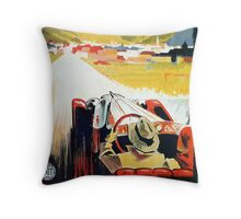 Vintage Italian travel, classic convertible car, Bozen-Gries Throw Pillow