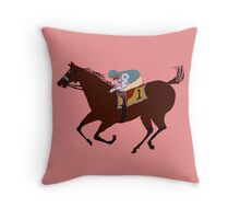 The Racehorse - Horse Racing Apparel & Gifts Throw Pillow