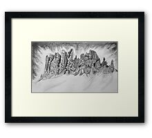 Study of Rocks Framed Print