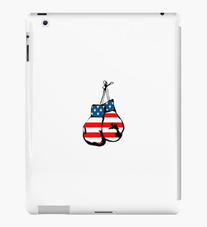 USA Boxing Gloves Stickers iPad Case/Skin