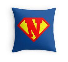 Super N Throw Pillow