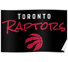 Toronto Raptors wordmark with logo Poster