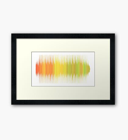 Personalised Sound Wave Art of Your Favourite Sound or Song Framed Print