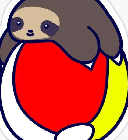 Beach Ball Sloth Sticker