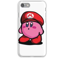 Kirby With Mario Hat Fanart iPhone Case/Skin