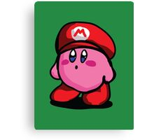 Kirby With Mario Hat Fanart Canvas Print