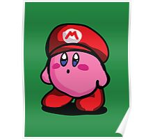 Kirby With Mario Hat Fanart Poster
