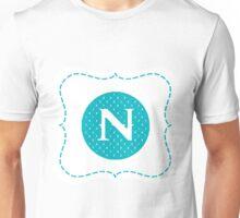 Striped Letter N Unisex T-Shirt