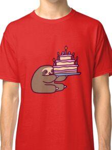 Birthday cake Sloth Classic T-Shirt