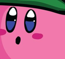 Kirby with Luigi Hat Fanart Sticker