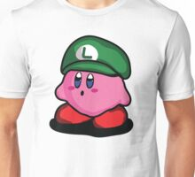 Kirby with Luigi Hat Fanart Unisex T-Shirt