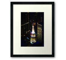 Chicago Temple Building Framed Print
