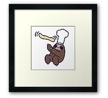 Baker Sloth Pizza Dough Framed Print