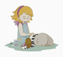 Cute girl playing piano Baby Tee