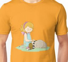 Cute girl playing piano Unisex T-Shirt
