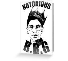 Notorious RBG  Greeting Card