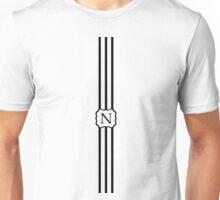 N Turquoise Chevron II Unisex T-Shirt