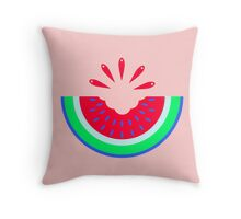 Super Fresh Watermelon Throw Pillow