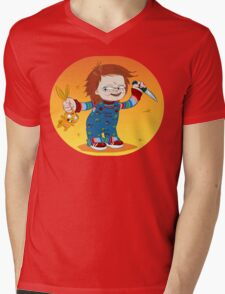 CHUCKY BUNNY Mens V-Neck T-Shirt