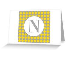 N Checkard Greeting Card